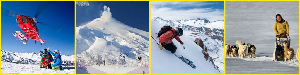 4 Images, Santiago Ski, Chile Ski, heli sking with andes in background