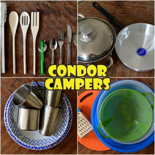 Complimentary items:Cooking UtensilsPans